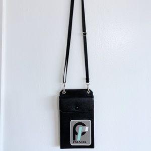 Prada Patch 1 Saffiano Leather Card/Phone Bag